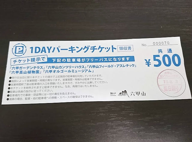 1DAYパーキングチケット