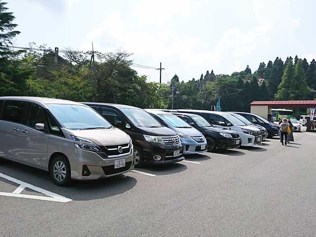 六甲山カンツリーハウスの駐車場